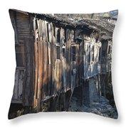 Riverside Houses  Throw Pillow