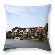 Riverside Of Bamberg - Germany Throw Pillow