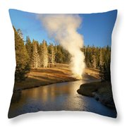 Riverside Reflection Throw Pillow