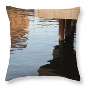 Riverwalk Low View Refections Throw Pillow