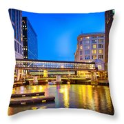 Riverwalk Shimmer Throw Pillow