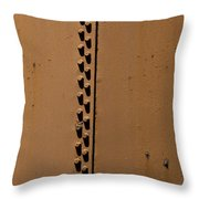 Riveted Plates   #1612 Throw Pillow