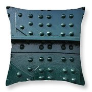 Rivets 02 Throw Pillow