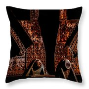 Rivets Number Three Throw Pillow by Bob Orsillo
