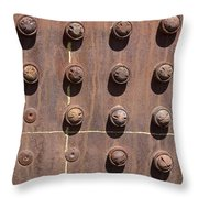 Chama -rivets On Steam Engine Boiler Throw Pillow