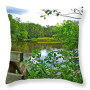 Rivier Du Nord In The Laurentians-qc Throw Pillow