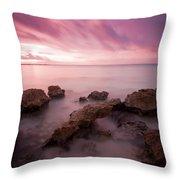Riviera Maya Sunrise Throw Pillow