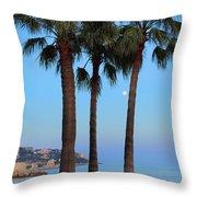 Riviera Romance Throw Pillow