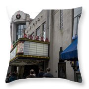 Riviera Theatre Charleston South Carolina Throw Pillow
