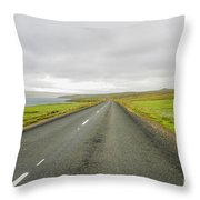 Road In Iceland Throw Pillow