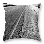Road In The Desert #1 Throw Pillow