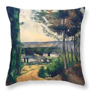 Road Leading To A Lake Throw Pillow