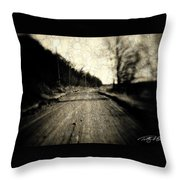 Road Of The Past Throw Pillow