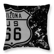 Road Sign 2 Throw Pillow