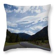Road Through The Mountains Throw Pillow