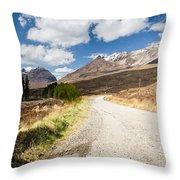 Road To Beinn Eighe Throw Pillow