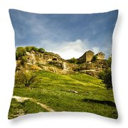 Road To Chufut-kale Throw Pillow
