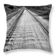 Road To Everywhere Bw Throw Pillow