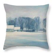 Road To Felchville Vermont Throw Pillow