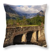 Road To Many Glacier Throw Pillow