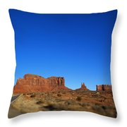 Road To Monument Valley V2 Throw Pillow