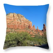 Road To Mother And Child Sedona Arizona Throw Pillow