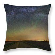 Road To Nowhere   Air Glow Throw Pillow