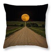 Road To Nowhere - Supermoon Throw Pillow