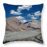 Road To Nubra Valley Throw Pillow
