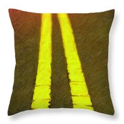 Road To Taos Throw Pillow