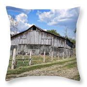 Road To The Barn - Featured In Old Building And Ruins Group Throw Pillow