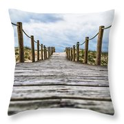 Road To The Dunes Throw Pillow