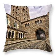 Road To The Gatehouse - In Color Throw Pillow