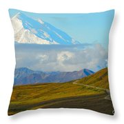Road To The High One Throw Pillow