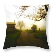 Road To The Mausoleum Throw Pillow