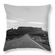 Road To The Rock Throw Pillow