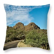 Road To The Two Humped Camel Throw Pillow