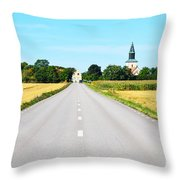 Road To The Village Throw Pillow