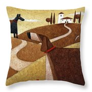 Road To Tuscany Throw Pillow
