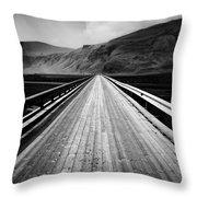 Road To Vik Throw Pillow