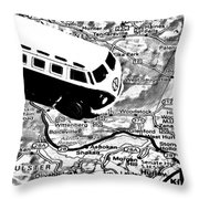 Road Trip - Woodstock Throw Pillow