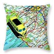 Road Trip - Oregon Coast Throw Pillow