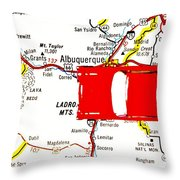 Road Trip - The Mother Road Throw Pillow