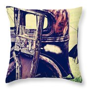 Road Xox Throw Pillow