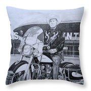 Roadking Of Vegas Throw Pillow