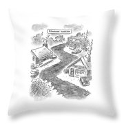 Roadside Ambush Throw Pillow