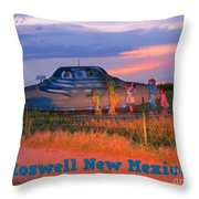 Roadside Attraction At Roswell Throw Pillow