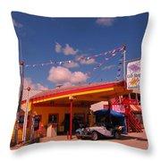 Roadside Near Deadwood South Dakota Throw Pillow