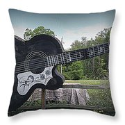 Roadside Tribute To Elvis Throw Pillow