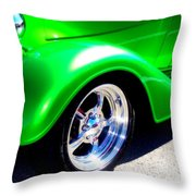 Roadster Wheels Throw Pillow